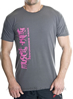 Muscle King Designer T-Shirts - Logo Side Grey